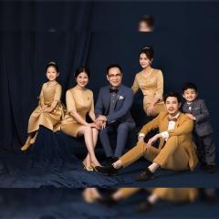 家庭拍照款一家六口影楼全家福主题服装W9050230116-12 如图 均码