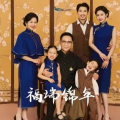家庭拍照款一家六口影楼全家福主题服装W9050236107 如图 均码