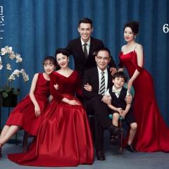 家庭拍照款一家六口影楼全家福主题服装W9050236085 如图 均码