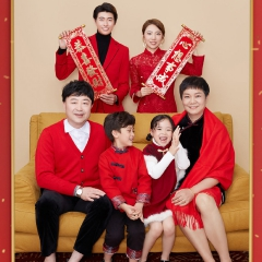 家庭拍照款一家六口影楼全家福主题服装W9050236086 如图 均码