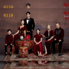 家庭拍照款一家六口影楼全家福主题服装W9050236119 如图 均码