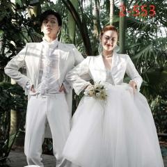 婚纱影楼工作室拍照款情侣装W9010022-553 如图(组) 均码