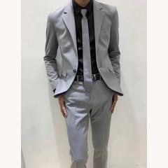 男士演出主持人婚礼伴郎男装绅士西服三件套拍照款3010191962HUI 如图(三件套) 48码