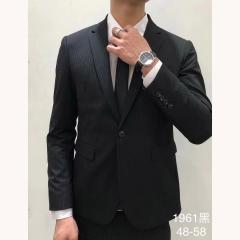 男士演出主持人婚礼伴郎男装绅士西服三件套拍照款3010191961HEI 如图(三件套) 48码