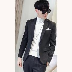 男士演出主持人婚礼男装绅士西服三件套拍照款301019XZ164SH 如图(三件套) 48码