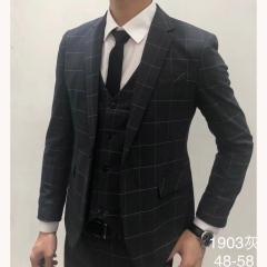 影楼主题服装拍照摄影男士演出主持人西装三件套3010191903HUI 如图(三件套) 48码