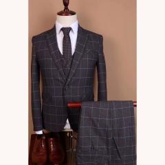 影楼主题服装拍照摄影男士演出主持人西装三件套3010191903-3 如图(三件套) 48码