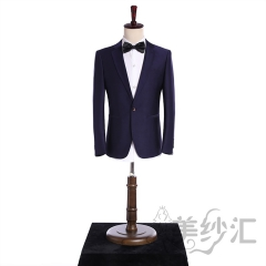 深色系男装新款男装两件套单纽扣影楼工作室拍照款3010220418-3 图片色 44