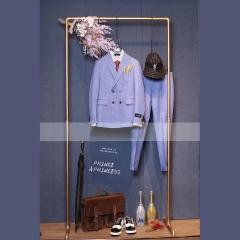 时尚潮牌双排扣西装主持人舞台装影楼拍照西装3010070423-4 如图 58码