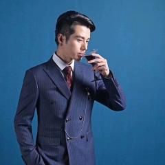 韩式修身款新郎结婚双排扣西装影楼高端拍照西装3010070425-10 图片色 46