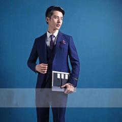 韩式修身款新郎结婚三件套西装影楼高端拍照西装3010070425-12 图片色 50