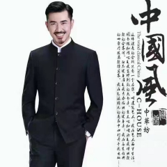 婚纱影楼工作室拍照款中国风两件套中山装W3010300305-03 如图(两件套) M