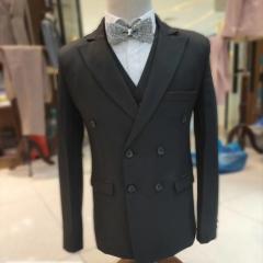婚纱影楼工作室拍照款双排扣三件套男装W3010300305-05 如图(三件套) M