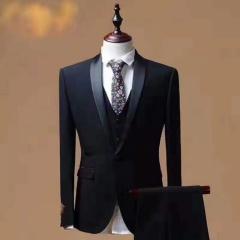 婚纱影楼工作室拍照款修身款三件套男装W3010300305-06 如图(三件套) M