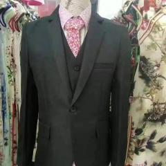 婚纱影楼工作室拍照款修身款三件套男装W3010300305-08 如图(三件套) M