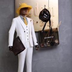 婚纱影楼工作室拍照款白色三件套男装W3010070308-23 如图(三件套) 48码