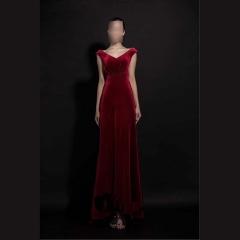 双肩美背款款新娘结婚敬酒服晚宴礼服2010860305-3 图片色 均码