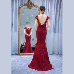 双肩美背款新娘结婚敬酒服晚宴礼服2010860305-6 图片色 均码