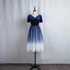 影楼工作室拍照款V领短袖款礼服W2010620408-01 图片色 均码