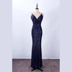 影楼工作室拍照款V领双肩带随身礼服W2010620408-02 图片色 均码