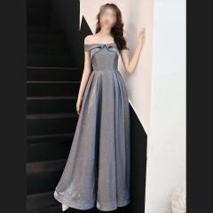 影楼工作室拍照款一字肩随身礼服W2010620408-05 图片色 均码