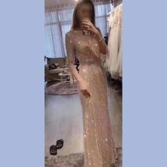影楼工作室拍照款七分袖随身礼服W2010620409-01 图片色 M