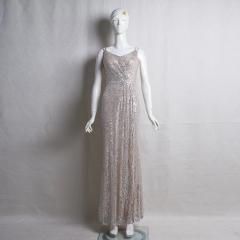 影楼工作室拍照款V领双肩随身礼服W2010620409-04 图片色 XL