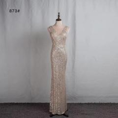 影楼工作室拍照款圆领高端随身礼服W2010620409-09 图片色 S