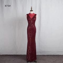 影楼工作室拍照款圆领高端随身礼服W2010620409-12 图片色 XL