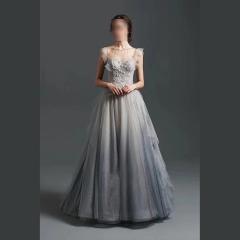 影楼工作室拍照双肩花纹气质高端晚宴礼服W2010790409-38 图片色 均码