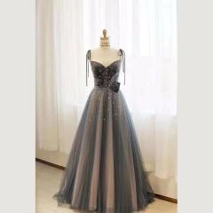 影楼工作室拍照双肩带气质高端晚宴礼服W2010790409-39 图片色 均码