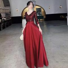 影楼工作室新娘结婚七分袖高端敬酒礼服W2010020409-53 图片色 均码