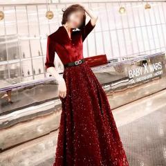 影楼工作室新娘结婚七分袖高端敬酒礼服W2010020409-55 图片色 均码