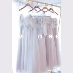 婚礼伴娘服姐妹装姐妹团伴娘服长款礼服绑带W201088041033 图片色 A(单件)