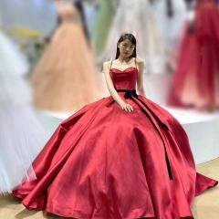 双肩带新娘结婚当天嫁衣敬酒服W2010831226-4 图片色 均码