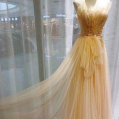 金色主持人歌唱表演赛礼服随身礼服W2010830110-4 图片色 均码