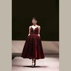 吊带款新娘结婚敬酒服晚宴礼服生日礼服W201130302-2 图片色 均码
