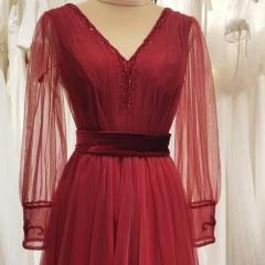 长袖新娘结婚当天嫁衣敬酒服礼服W2011400308-18 图片色 均码