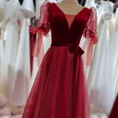 带袖新娘结婚当天嫁衣敬酒服礼服W2011400308-19 图片色 均码