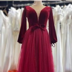 长袖新娘结婚当天嫁衣敬酒服礼服W2011400308-22 图片色 均码