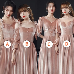 伴娘服姐妹装姐妹团伴娘服长款礼服W2010880313-21 图片色 A(单件)