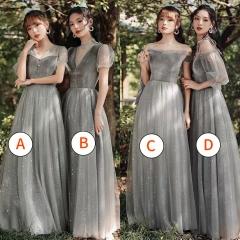 伴娘服姐妹装姐妹团伴娘服长款礼服W2010880313-22 图片色 A(单件)