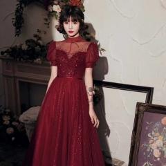 高领新娘结婚当天嫁衣敬酒服礼服W2010710321-10 图片色 均码