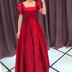 红色半袖新娘结婚当天嫁衣敬酒服W2010830322-04 图片色 均码