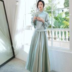 伴娘服姐妹装姐妹团伴娘服长款礼服W2011390324-10 图片色 单款(单件)
