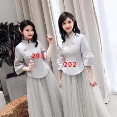 伴娘服姐妹装姐妹团伴娘服长款礼服W2011390324-11 图片色 203款(单件)