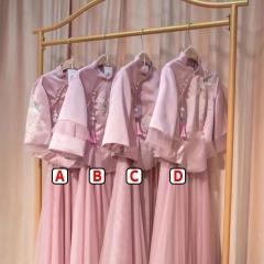 伴娘服姐妹装姐妹团伴娘服长款礼服W2011390324-14 图片色 B(单件)