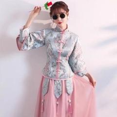 伴娘服姐妹装姐妹团伴娘服长款礼服W2011390324-16 图片色 单款(单件)