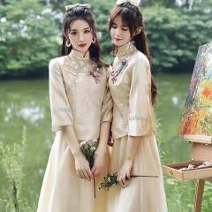伴娘服姐妹装姐妹团伴娘服长款礼服W2011390324-17 图片色 两件套(1组)