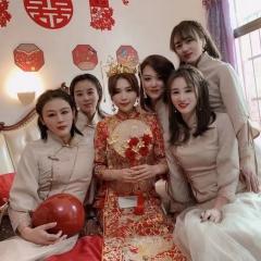 伴娘服姐妹装姐妹团伴娘服长款礼服W2011390324-18 图片色 单款(单件)